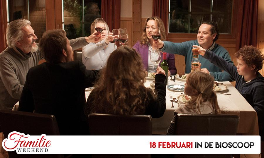 18 februari komt de film Familie weekend in de nationale Bioscoop